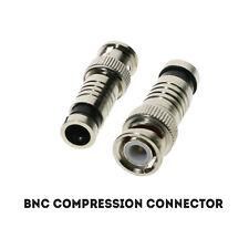 Cctv Bnc Compresión Crimp Connector para RG59 Cable de Video Coaxial Whole Sale Lote