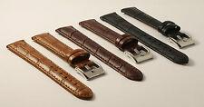 Vera Pelle - - Orologi da polso-imitazioni - 18mm-crocograin-Genuine Leather-BLACK-Brown-Tan