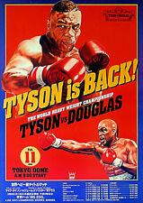 Home Wall Art Print - Vintage Sports Poster - TYSON V DOUGLAS - A4,A3,A2,A1