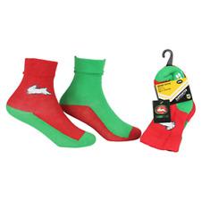 NRL Infant Socks - South Sydney Rabbitohs - Set Of Two - Non Slip - Sock - Baby