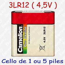 Pile Alcaline Plus version 3LR12 3R12 LR12 R12 MN1203 4,5V 4,5 volts x 1 ou x 5