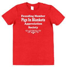 Cerdos en la sociedad mantas apreciación T-Shirt Salchicha tocino cena de Navidad