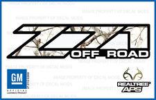2001 - 2006 Chevy Silverado Z71 Off Road decals Realtree APS Snow Camo stickers