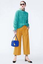 NWT £170 Designer J.CREW Collection Italian Wool PANTS = French Mustard - Green