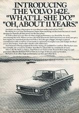 1971 Volvo 142 142E Classic Vintage Advertisement Ad - PE55