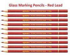 Metal de cuero de vidrio Apsara Vinilo marcado lápices de color plomo rojo