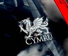 Wales-Cymru Dragon - Car Window Sticker - Welsh Rugby Union Sign - TYP1