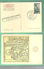 CARTOLINA EUROPA AMANUENSE EUROPEA VENEZIA 1953 RARA ANNULLO RETTANGOLARE