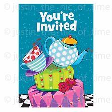 MAD idrargirismo Tea Party Inviti Bambini Bambine Rosa Compleanno Forniture invitare
