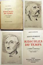 CURIOSA/BARBEY/DUMESNIL/SUPPLEMENT AUX RIDICULES DU TEMPS/EX  HOLLANDE/1929/RARE
