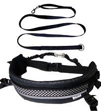 Líneas de choque fijo de cinturón de canicross mmdoggear y extraíble correa de pierna + Gratis de plomo