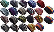 Knitted Beanie Gorro de Lana Lana Forrada De Invierno Sombrero Hippie Multicolor nepalí