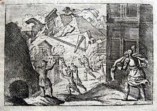 Erdbeben Antakya Kupferstich 1693 earthquake Antiochia Trajan Traiano terremoto