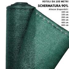 Rete Ombreggiante Frangivista Verde con asole Rotoli da 100 mt Schermatura 90%