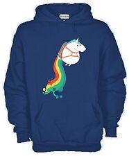 Hoodie kj1196 Crazy Unicorn Fun Rainbow Pony