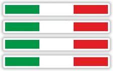 4x autocollants rayures de drapeau Italie sticker vinyl auto laptop velo moto