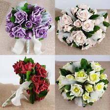 Shabby Chic Rose Voile Bouquet Vintage Lavage robe de mariage 26 roses