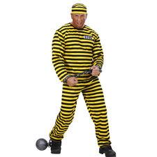Sträfling Kostüm Schwerverbrecher Outfit Verbrecher Häftlingskleidung JGA