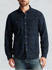 $199 True Religion Men Shirt Jacket Western Ace Plaid 3XL Checker