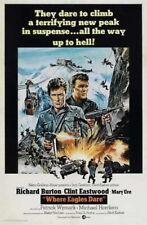 66465 Where Eagles Dare Movie Clint East Wall Print Poster AU