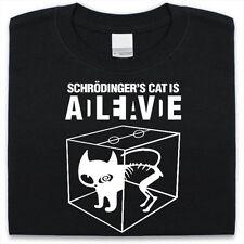 Schrodingers Cat Camiseta Hombre Mujer Gracioso Ciencia