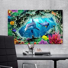 3D Dolphin 637 Wall Stickers Vinyl Murals Wall Print Decal Art AJ STORE AU