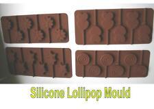SILICONE LOLLIPOP baking mould STAR HEARTS FLOWER SWIRL mold fondant chocolate