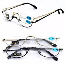 48mm Half Moon Mens Women Vintage Spring Hinge Eyeglasses Reading Glasses