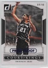 2014 Panini Donruss Court Kings Press Proof Blue 11 Tim Duncan San Antonio Spurs