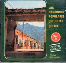 Las Canciones Populares Que Ud Queria Vol 2  BRAND NEW SEALED CD
