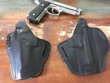 Tex Shoemaker Black Leather OWB Holster Beretta 92F Right / Left Pancake Style