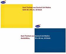 Duni Tischset aus Dunicel Uni Maitre Gelb/dunkelblau, 30 x 40 cm, 10 Stück