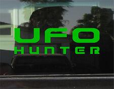 UFO HUNTER  8 INCH DIE CUT VINYL DECAL/STICKER