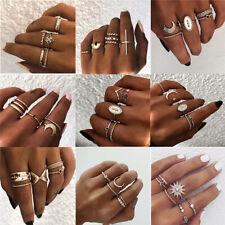 15pcs Silver Gold Boho Stack Plain Above Knuckle Ring Midi Finger Rings Set Gift
