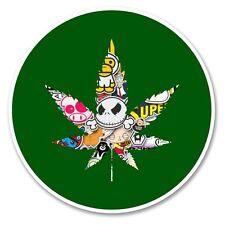 2 x Cannabis Vinyl Sticker Laptop Travel Luggage Car #6174