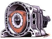 Rotary Engine Cartoon T-shirt wankel renesis 12A 13B rx-7 rx-8 rx-3 -sizes S-3XL