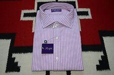 Ralph Lauren Purple Label Made in Italy 100% Cotton Dress Shirt
