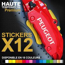 Stickers autocollants adhésifs pour étrier de frein - PEUGEOT 206 207 307 GTI