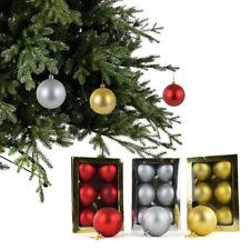 set da 6 o 18 PALLE DI NATALE - sfere natalizie decorazione abete metallizzate
