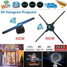 65CM LED 3D WIFI Holographic Projector Hologram Advisement Displayer 4Fans Lamp