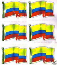República de Colombia Flag Mini-Stickers LOT NEW