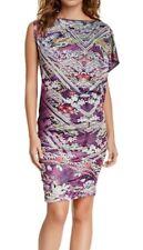 Custo Barcelona Habre Purple Asymmetrical One Shoulder Kimono Sleeve Dress S, M