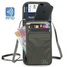 Military Tactical RFID-Blocking Neck Stash Hidden Money Wallet Passport Holder