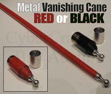 METAL VANISHING CANE RED OR BLACK STAGE MAGIC TRICK PRO VANISH FANCY DRESS NEW 1