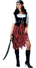 Disfraz De Dama Pirata Piratas señoras Vestido de fantasía Traje Caribe Talla 6/28
