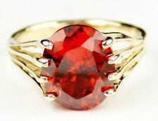 CLEMSON FANS! • R280, 6 ct. Created Padparadsha CZ, 10k Yellow Gold Ladies Ring