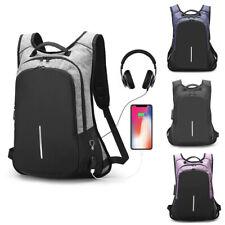 Unisex Anti-Theft Backpack USB Port Camera Laptop School Bag Waterproof