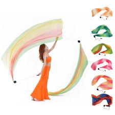 Silk Veil Scarf Poi Balls for Belly Dance Yoga Costume Accessories 206 x 70cm