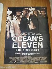 OCEANS ELEVEN HUGE ORIGINAL CINEMA MOVIE POSTER 47 X 63 INCHES GRANDE