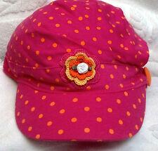 NEW CAP HAT w/ ROSE 4 5 6 7 8 10 11 12 13 14 YEAR GIRLS PINK ORANGE TODDLER TEEN
